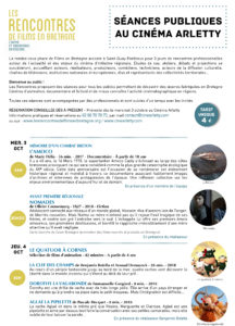 Programme séances publiques Arletty #RFEB18 recto